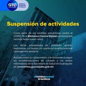 Suspensión de actividades
